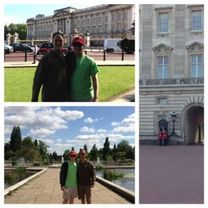 Christian and David at Buckingham Palace